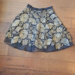 Eva Franco Gold Floral Skirt